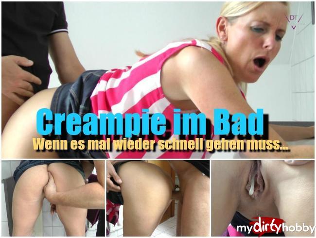 Creampie im Bad